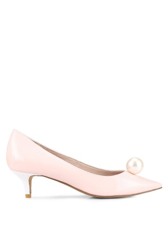 House of Avenues pink Pearl Embellished Pumps HO685SH0RRBMMY_1