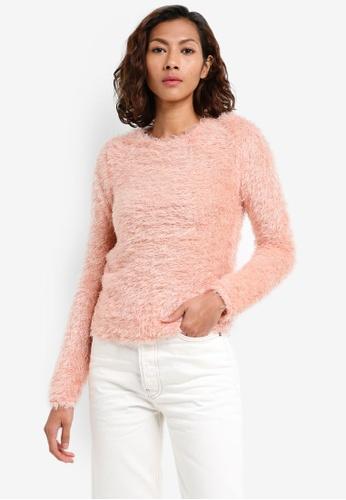 Mango pink Textured Sweater 248EEAAEDEED08GS_1