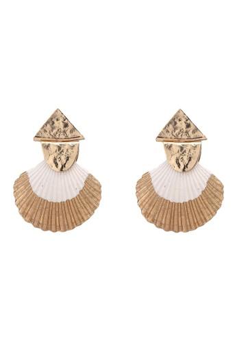 MANGO gold Shell Earrings 4EC93AC1CF8621GS_1