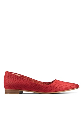 Clarks CLARKS Women's Formal Laina15 Pump Red Snake Leather Shoes 8A76CSH22BEB0CGS_1