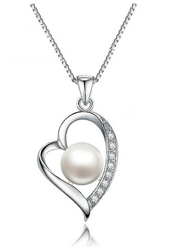 Vivere Rosse silver Pearl Beauty Necklace VI014AC87LQQMY_1