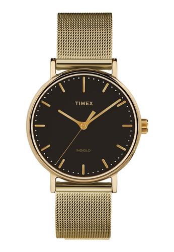 Timex gold Timex Fairfield 37mm - Gold-Tone Case & Mesh Band (TW2T36900) FBC83AC6552B48GS_1