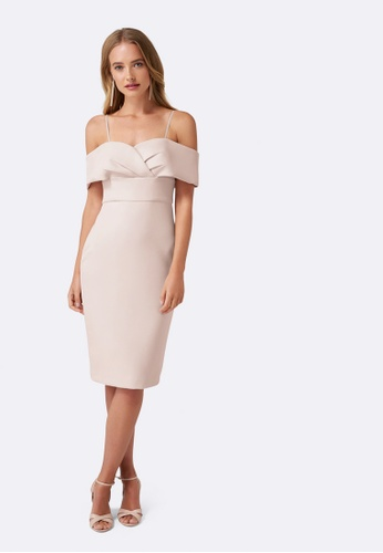 Forever New pink Eli Off Shoulder Dress B4730AAC2CEBD1GS_1