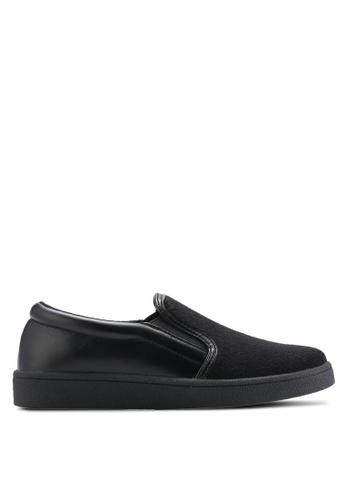 ZALORA black Faux Fur Slip-Ons 79266SHBFF6900GS_1