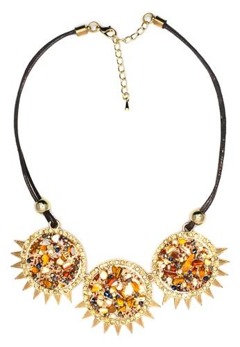 Istana Accessories Kalung Kelisa Fashion Necklace-Brown