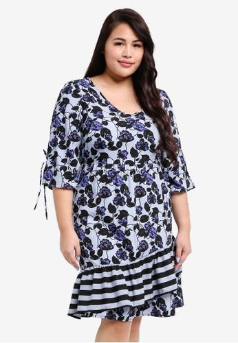 Junarose blue Plus Size Lea Dress D05CDAAB5B8B97GS_1