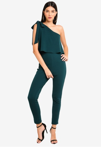 3c0bbc56cd856 Shop MISSGUIDED One Shoulder Bow Jumpsuit Online on ZALORA Philippines
