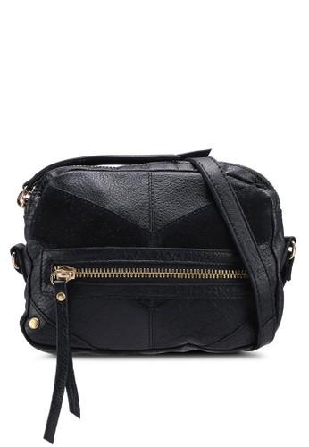 Pieces black Florina Leather Crossbody Bag 40EA5AC851C059GS_1