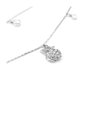 Glamorousky silver Elegant Apple Anklet with Silver Austrian Element Crystals D5315AC750A829GS_1
