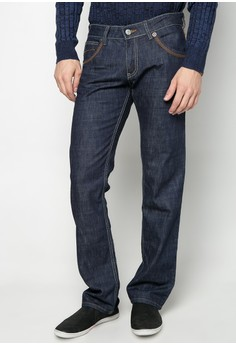 Denim Pants Straight Cut