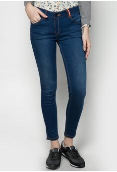 Low Rise Reversible Denim Legging Jeans