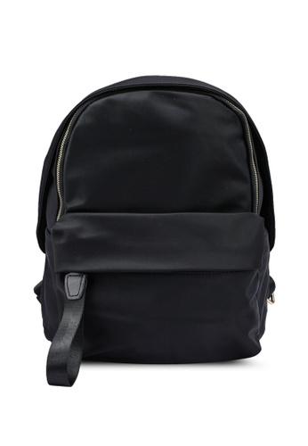 NUVEAU black Oxford Nylon Colour Block Backpack 445AFAC1CC3ECCGS_1