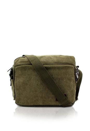 Attraxion Men's and Accessories green Attraxion Carlos 8022-20 Crossbody Bags for Men 614E4AC1E8EB58GS_1