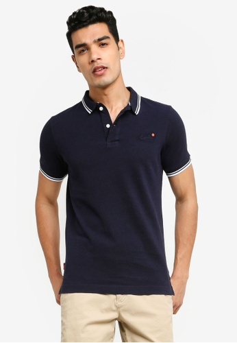 SUPERDRY navy Classic Poolside Pique Polo Shirt 29B3DAA653A274GS_1