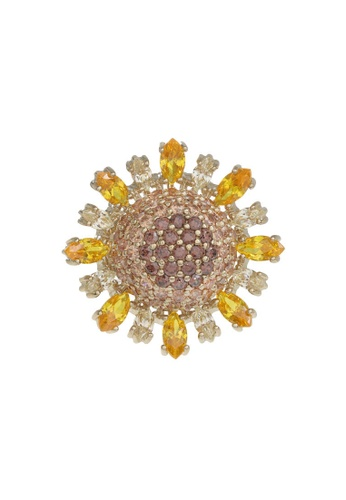 Arte Madrid yellow and brown Arte Madrid Tropical Dream Golden Sunflower Ring 582CDAC2AAAFCFGS_1