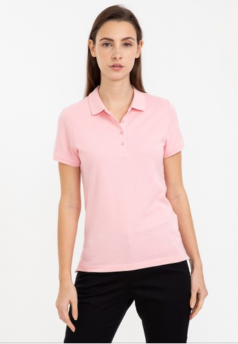 Bossini pink Short Sleeve Solid Polo Shirt 5FF47AA394E000GS_1