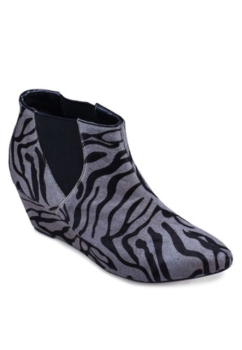 Zebraesprit outlet hong kong Print Slip On Booties, 女鞋, 靴子