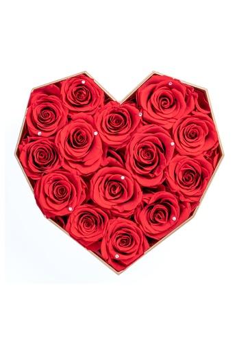 Her Jewellery red Everlasting Preserved Rose - Diamond Heart 762E0HL8CCBE13GS_1