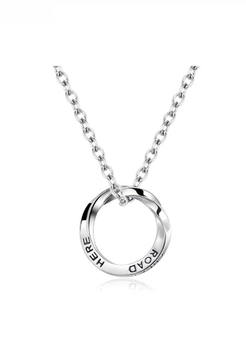 HAPPY FRIDAYS Road Here Ring Pendant Necklace JW QF-DZ272 DF220AC65700CDGS_1