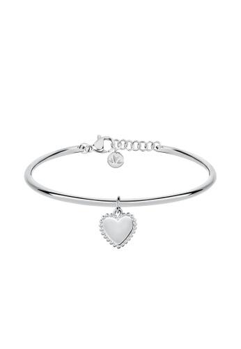 Morellato silver Morellato Cerchi Bangle Cuff Bracelet with Heart Charm SAKM59 8540CACF7D7441GS_1