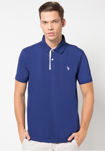 Polo Shirt With Contrast Quilted Placket