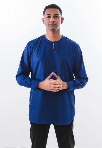 Achaboy blue Achaboy Kurta - Sheikh - Royal Blue 5668FAADF1FEE0GS_1