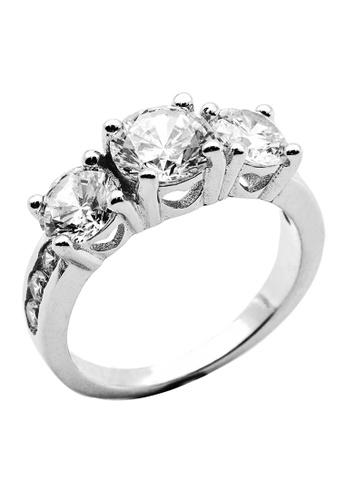 Elfi silver Elfi 925 Genuine Silver Engagement Ring P45. The Trinity EL186AC51FEUMY_1