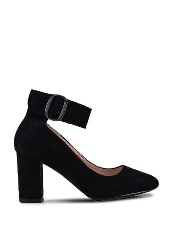 NOVENI black Buckled Block Heels F59BDSHE47E275GS_1