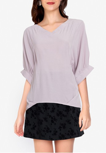 ZALORA WORK pink Cocoon Sleeves Blouse 3425AAA7FBBDB7GS_1