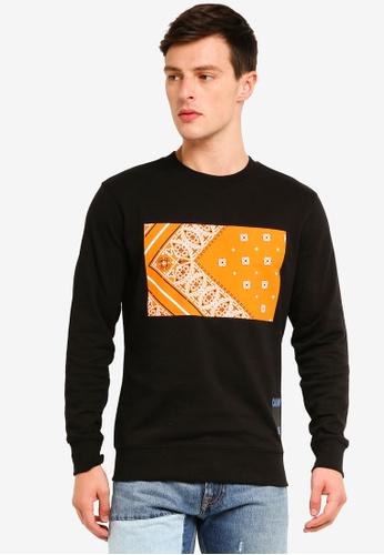 Calvin Klein 黑色 Bandana Regular Crew Neck Sweater - Calvin Klein Jeans 0DA21AA813E7ADGS_1