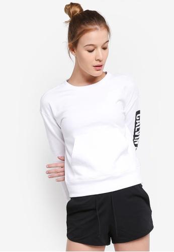 Calvin Klein white Flce Po W Logo Siv Sweatshirt - Calvin Klein Performance 12E2DAAEBC3A8DGS_1