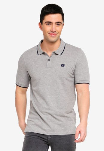 Jack & Jones grey Jjestone Slim Fit Polo Shirt FA40AAA700A155GS_1