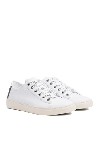 Tommy Hilfiger white TOMMY JEANS LIGHT LEATHER LOW 14BC5SHC8A0AA2GS_1