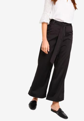 ZALORA black Wide Leg Pants D256CAA05E522DGS_1