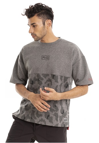 RYZ black RYZ Mid-pattern Black Short Sleeve Sweat T-Shirt. D4802AA309369BGS_1