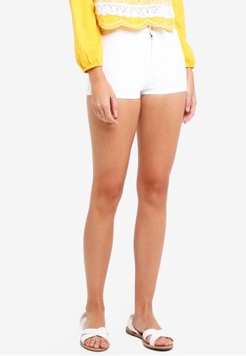 Miss Selfridge white Petite White Steffi Hotpants 1D998AAB180CE0GS_1