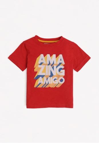 Gingersnaps red Boys Flock Print T-Shirt F1522KACFF554BGS_1
