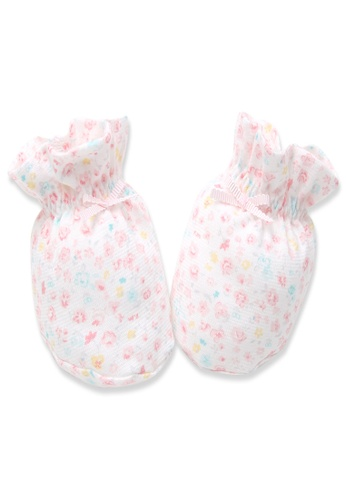 Organic mom pink Organic Cotton Iris Floral Socks E91C7KAAE6ED31GS_1