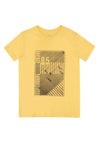 FOX Kids & Baby yellow Graphic Print T-Shirt A475AKA8E807A5GS_1