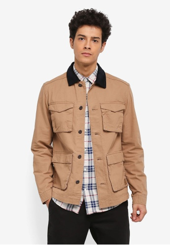 Jack & Jones brown Mike Jacket 6FC1BAA8D7F03AGS_1