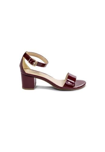 prettyFIT red Minimalistic Wine Patent Mid Heeled Sandals Hq-1781A E017ASHD4806BCGS_1
