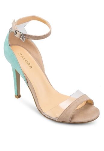撞zalora 心得 ptt色拼接高跟涼鞋, 女鞋, 高跟