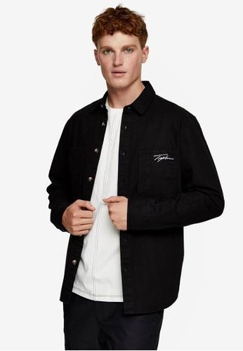 Topman black Signature Overshirt E0303AA81047FCGS_1