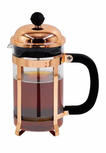 Slique pink Premium Borosilicate Glass Copper French Coffee Press 600ml E1AA6HLB182302GS_1