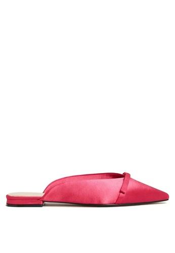 Mango pink Bow Satin Mules 69BA6SHE8949FDGS_1