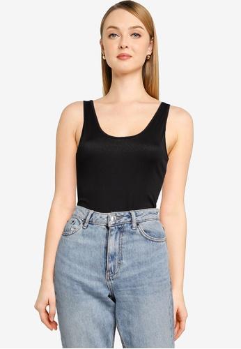 Vero Moda 黑色 Lacey Rib Bodysuit 3C908AA1EC2066GS_1