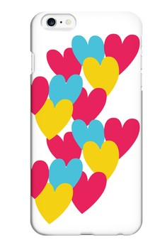 Hearts Semi-Transparent Case for iPhone 6 Plus