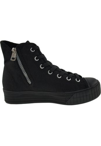 Maxstar Maxstar Women's C30 7 Holes Zipper Canvas High Top  Platform Sneakers US Women Size MA164SH43PWMSG_1