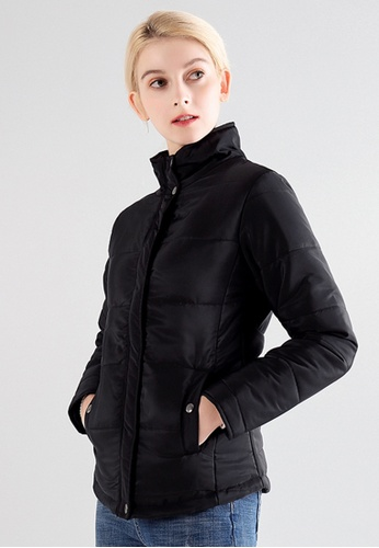 London Rag black High Neck Puffer Jacket 854E7AA0DAC7B5GS_1