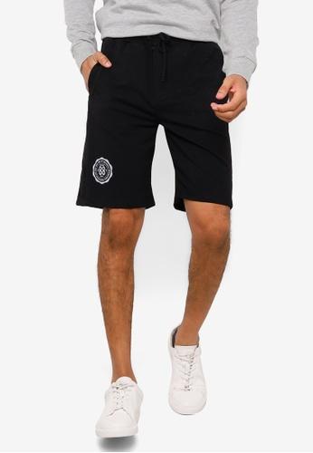 KOTON black Printed Drawstrings Shorts DB830AA0443F55GS_1